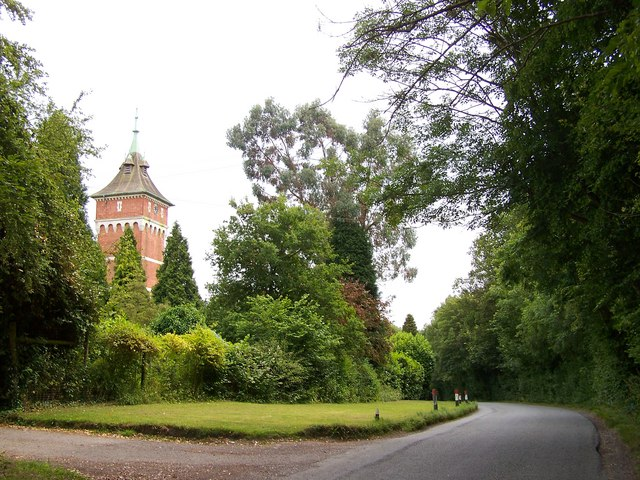 Warnham Lodge clock tower and Northlands Road