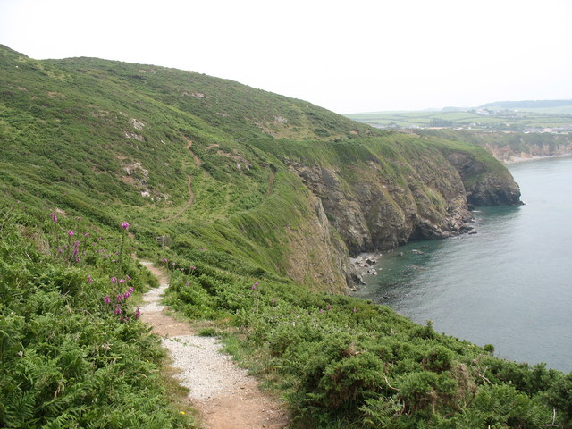 The Anglesey Coastal Path above Porth Swtan/Church Bay
