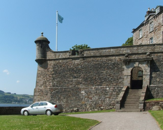 Dumbarton Rock: King George's Battery