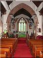 SO0826 : Church of St.Peter and St. Illtyd, Llanhamlach - interior by Ruth Sharville