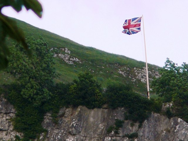 Union Flag Above Settle