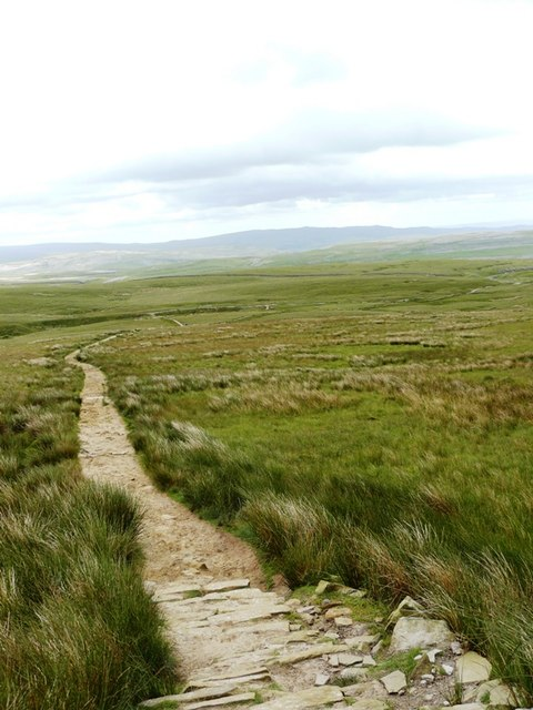 Looking back part way up to Little Ingleborough