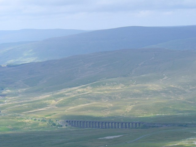 Ribblehead Viaduct from Ingleborough