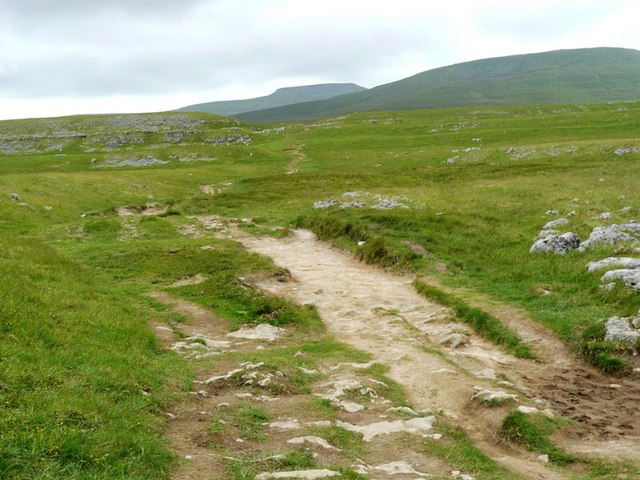 Path to Ingleborough from Sulber