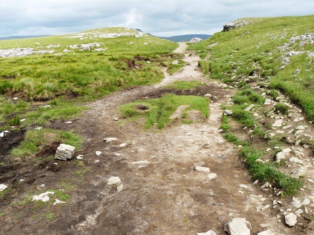 Path from Ingleborough to Horton in Ribblesdale