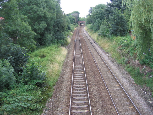 Manchester to Liverpool rail track