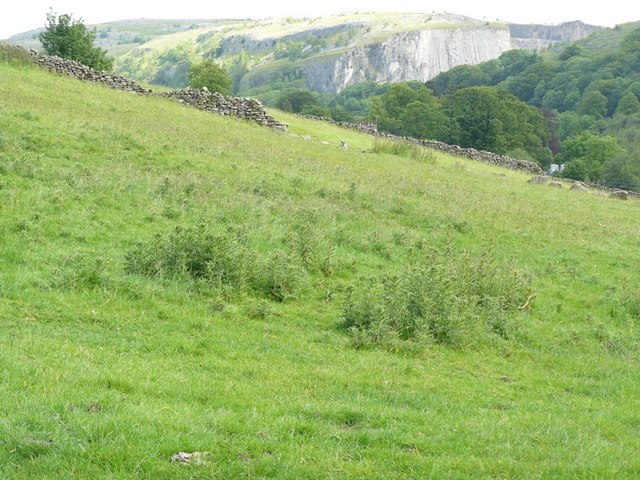Fields behind Giggleswick Village