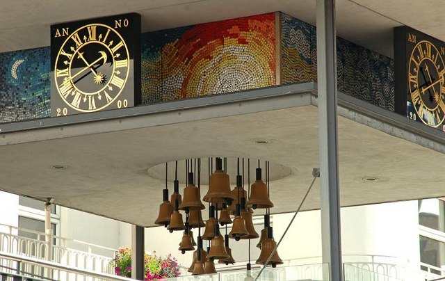 The Fountain Centre clock, Belfast