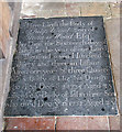 TG1700 : St Nicholas' church - C18 ledger slab by Evelyn Simak