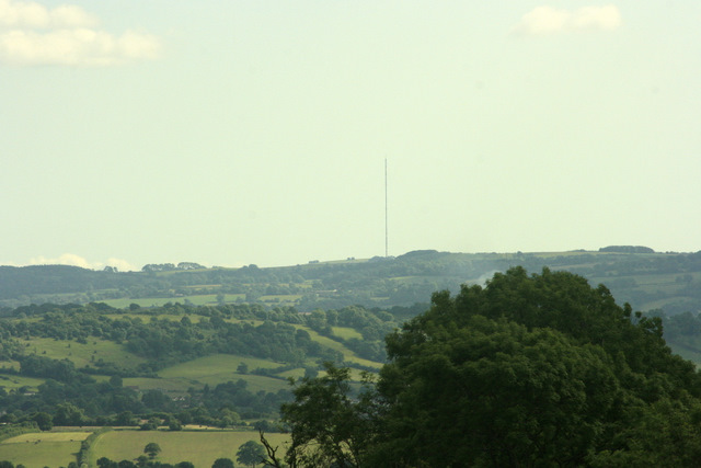 2009 : Mendip TV transmitter near Wells