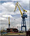 J3676 : 'Stena Primorsk' in dry dock, Belfast : Week 27