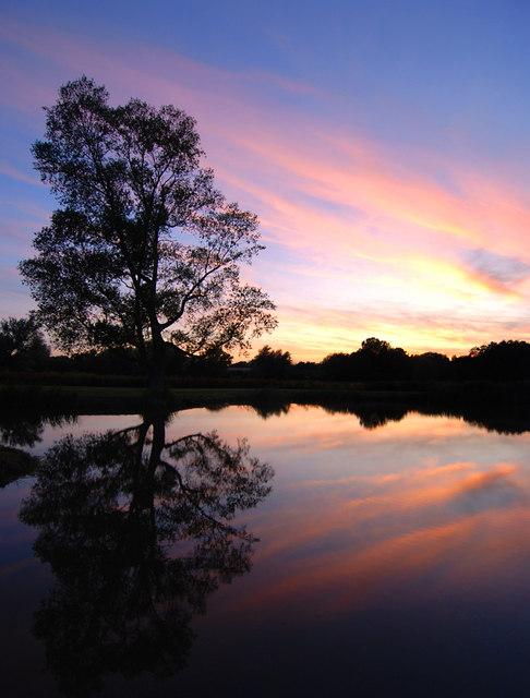 Sunset at Marsh Farm