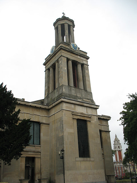 St Matthew's church, Brixton - tower