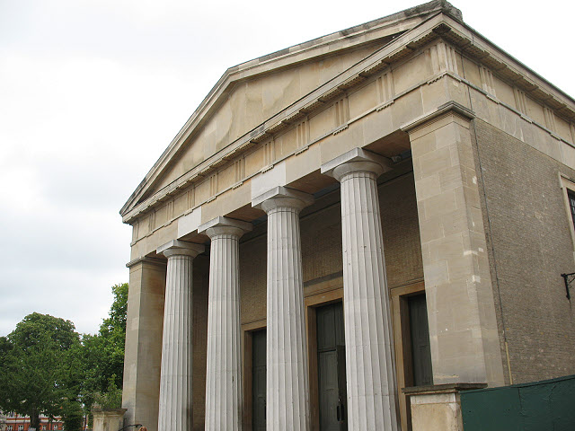 St Matthew's church, Brixton - portico