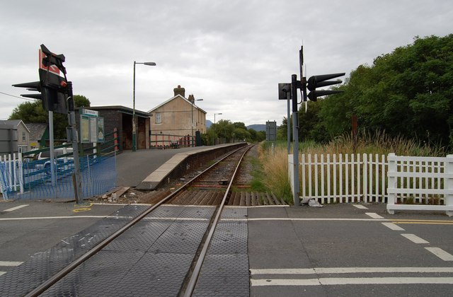 Fairbourne Station from the Level Crossing