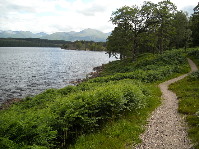 Great Glen Way at Loch Lochy