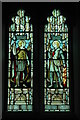 SO8223 : Stained glass window, Sandhurst Church by Philip Halling