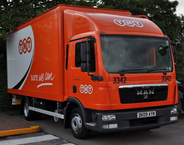 TNT lorry