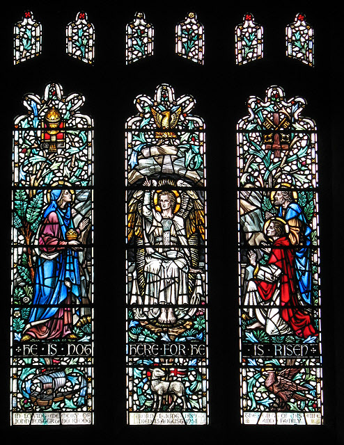 Kirkby Stephen parish church: Resurrection window