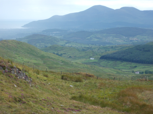 View to Mournes from top of Slieve Croob c500m
