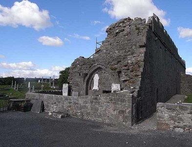 L9182 : The Church at Murrisk Friary by Oliver Dixon