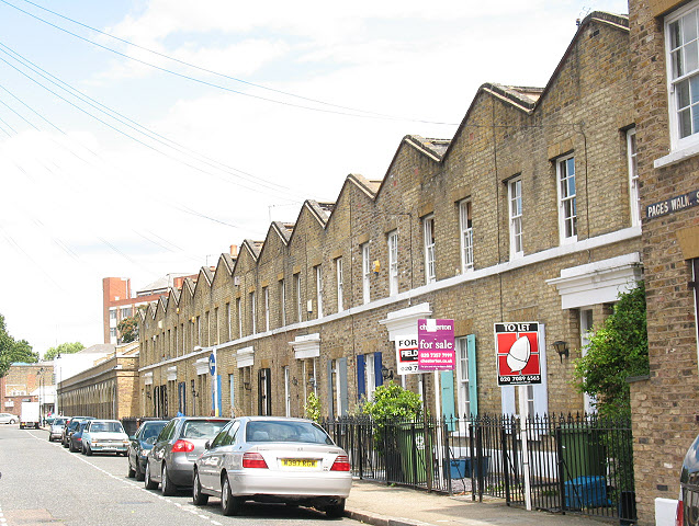 Terraced houses in Pages Walk, Bermondsey