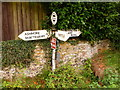 ST9515 : Farnham: finger-post by Chris Downer