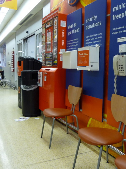 Poole: postbox № BH15 ??,within Sainsbury�s