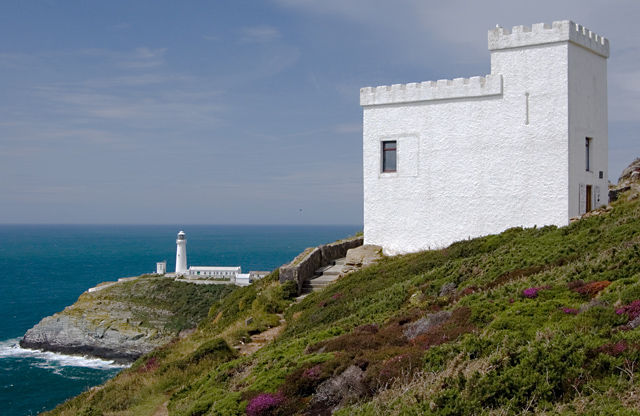 Ellin's Tower and South Stack lighthouse