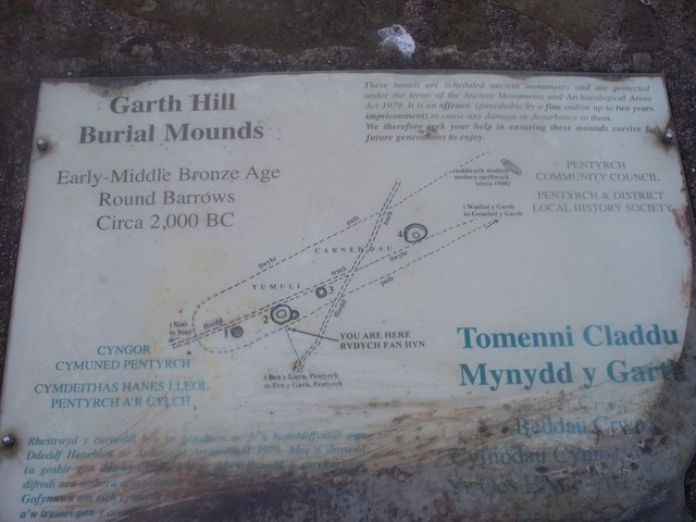 Information on the Garth Hill burial mounds