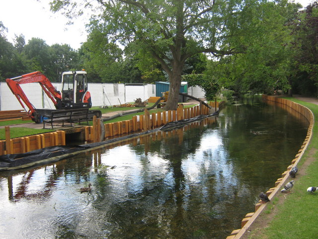 River Stour undergoing bank restoration work