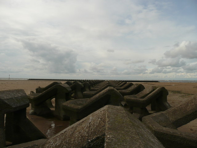 Sea Defences off New Brighton