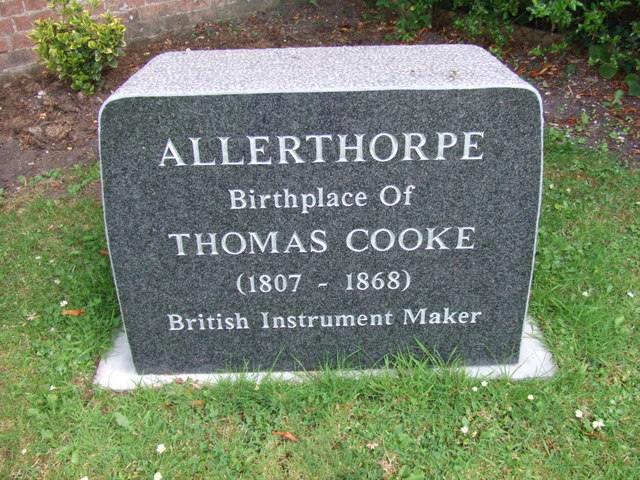 Memorial stone to Thomas Cooke