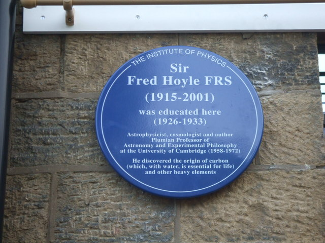Plaque to Sir Fred Hoyle