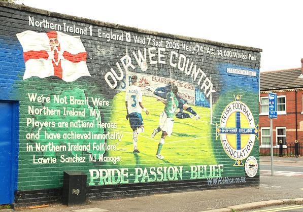 Football mural belfast 1 albert bridge geograph for Mural ireland