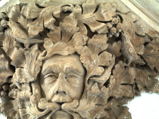 The Green Man at Sutton Benger Church