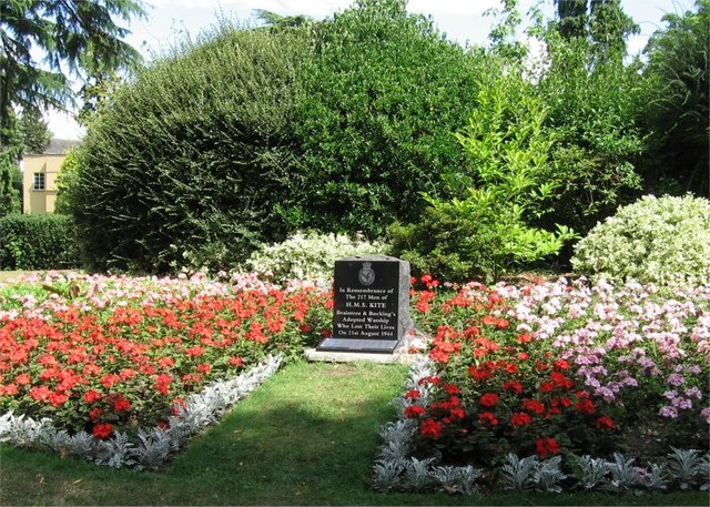 H.M.S. KITE Memorial, Public Gardens, Braintree, Essex