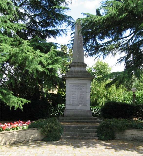 War Memorial Public Gardens Bocking Trevor Wright