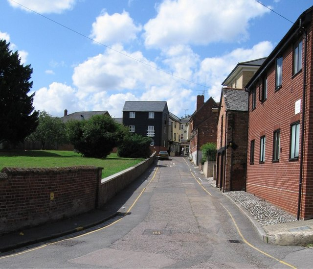 St. Michaels Lane, looking towards junction with High Street, Braintree