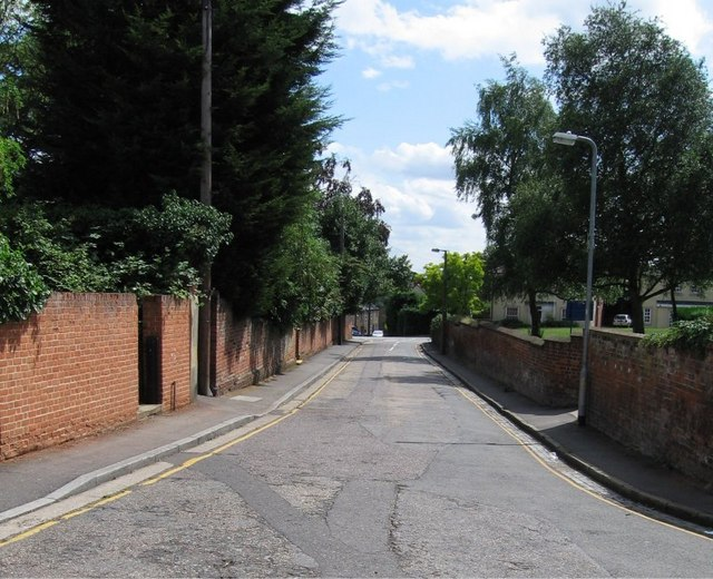 St. Michaels Lane, looking towards junction with St. Michaels Road and Notley Road, Braintree