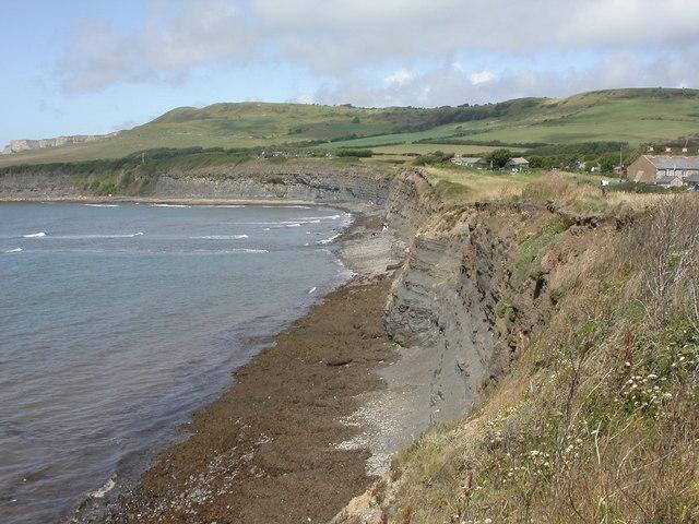 Kimmeridge Bay, cliff