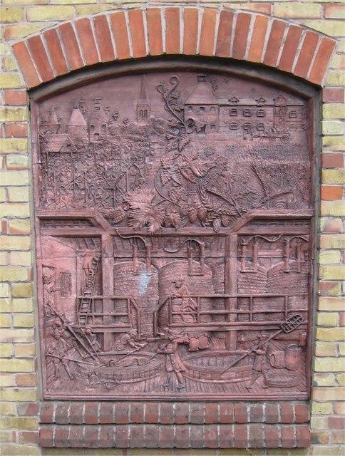 Steven Sykes Sculptured Panel, Brewhouse, Sainsbury's, Drury Lane, Braintree
