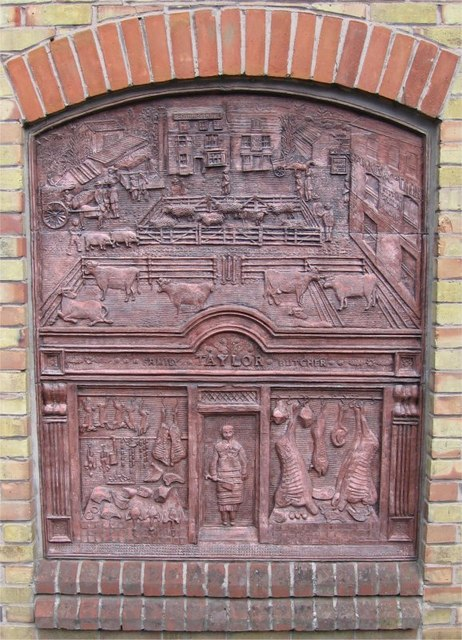 Steven Sykes Sculptured Panel, Cattle Market/Inns/Butcher, Sainsbury's, Drury Lane, Braintree