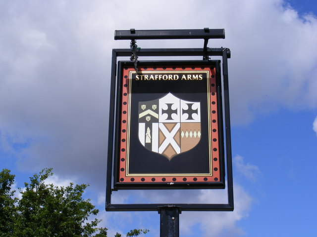 Strafford Arms Public House Sign