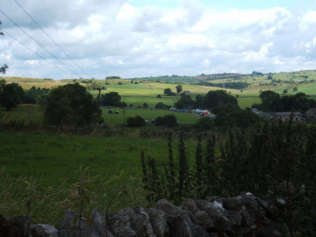Campsite at Middle Hills Farm, Grangemill