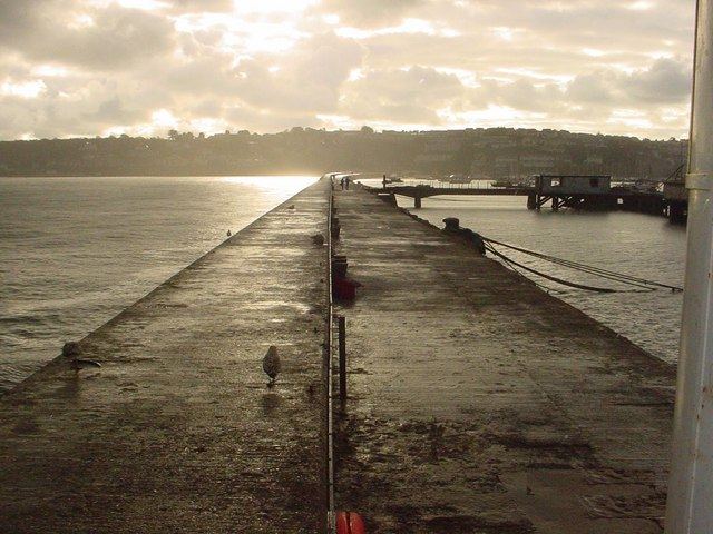 Brixham Breakwater from sea end