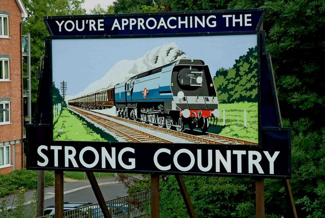 Strong Country advertisement at Alton Railway Station