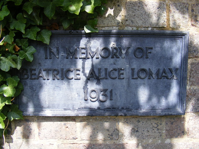 Plaque at the entrance to Yoxford Cemetery
