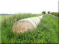 NU0327 : Straw bales by the track by Stephen Craven