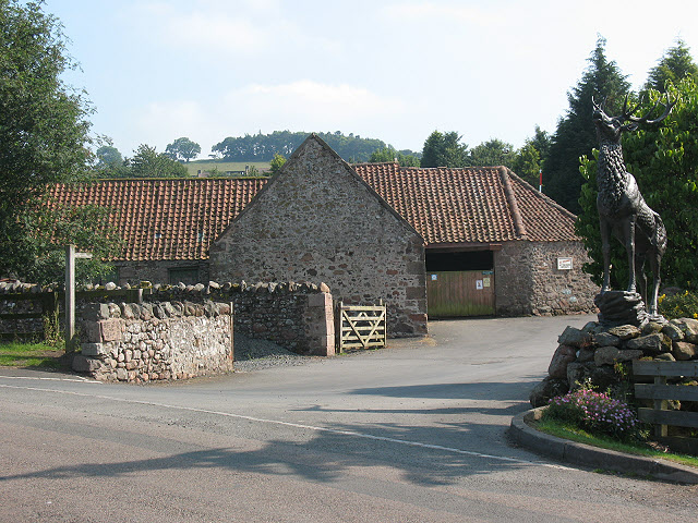 Entrance to Highburn House campsite